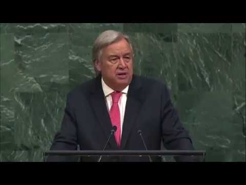 UN Secretary General Antonio Guterres Talking about Rohingya in UN General Assembly