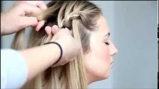 видео Как правильно и быстро заплести косу-водопад. Пошаговое фото