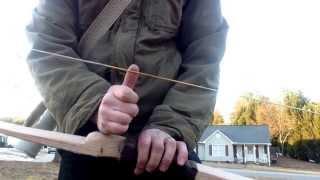 50# Red Oak Self Bow With Siyahs. Watts Archery.