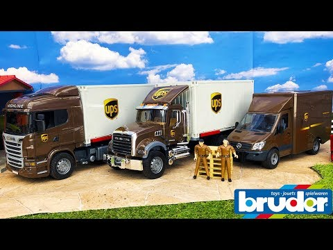 BRUDER TOYS news unboxing 2018 | UPS trucks edition | Video for kids
