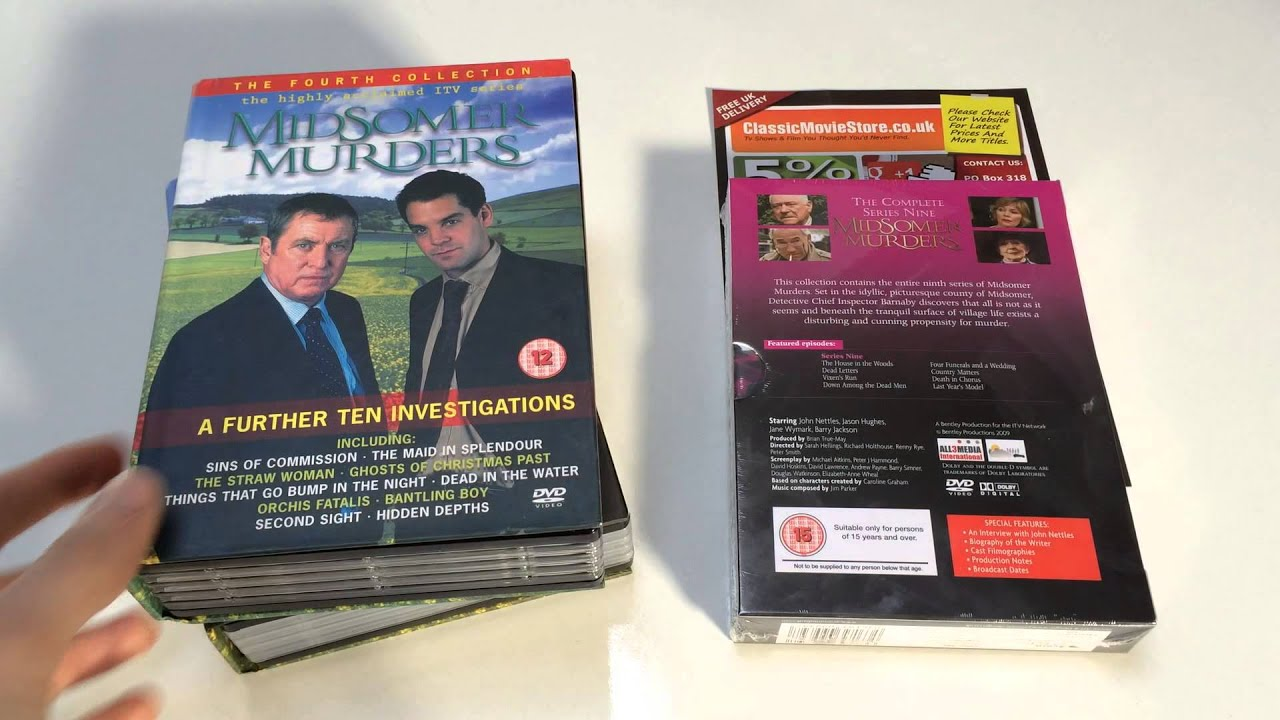 midsomer murders dvd set review - youtube