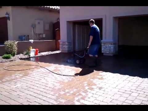 Paver Clean Driveway Cleaning Surface Cleaner Removing Stains Paint Oil Mesa Arizona