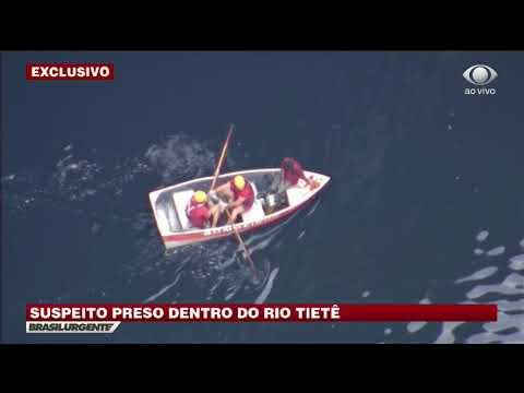 SP: Bandido pula no rio Tietê para fugir, mas é preso