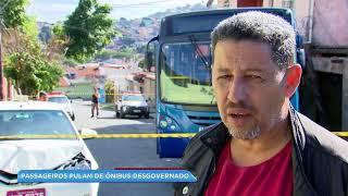 Ônibus desgovernado invade casas em BH
