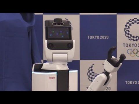 """Así son os dous robots """"asistentes"""" que haberá en Tokio 2020"""