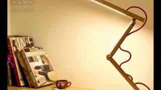Wood Led Desk Lamp Ac85-265v Touch Dimmer