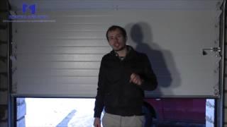 видео Автоматические секционные ворота