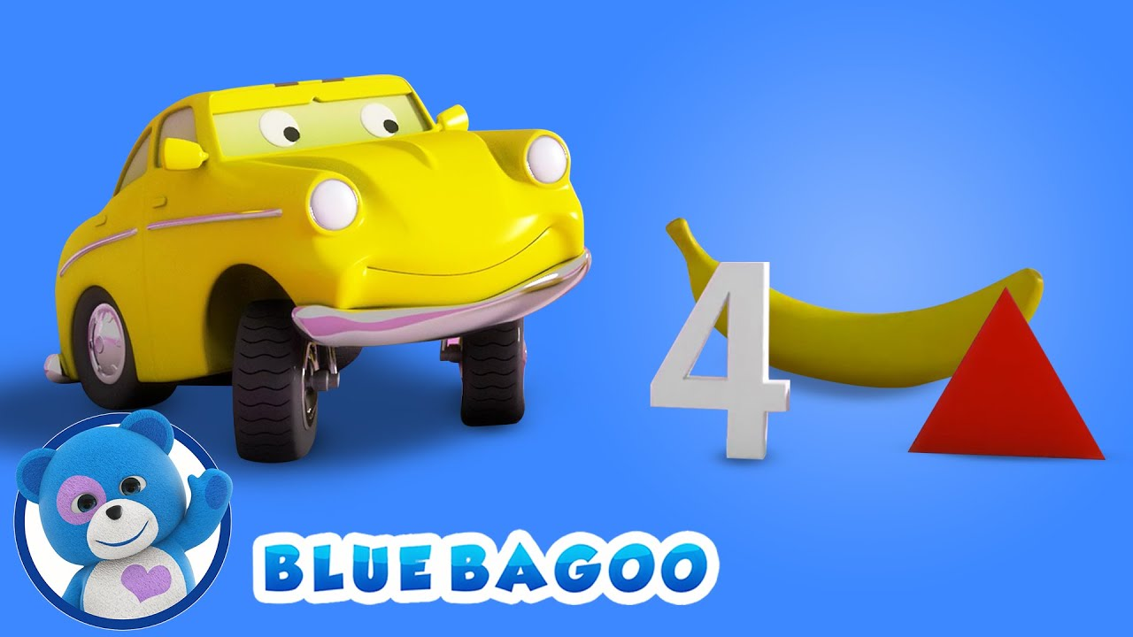 Ed the Hungry Car Eats Shapes, Numbers, Fruits, and Vegetables | From Blue Bagoo and Friends