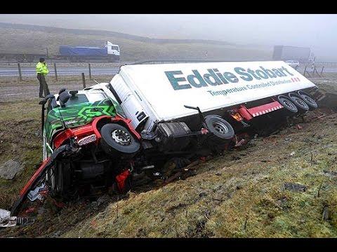 รวมคลิปโหดๆ อุบัติเหตุรถบรรทุก รถพ่วง Truck accident 2015 ep.1