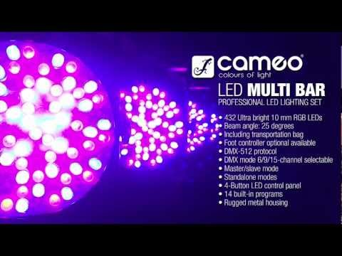 Cameo Light Multi PAR - Compact 432 x 10 mm LED Lighting Set
