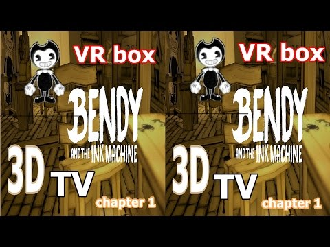 Bendy And The Ink Machine 3D VR TV Google Cardboard video Side by Side SBS horror ch 1