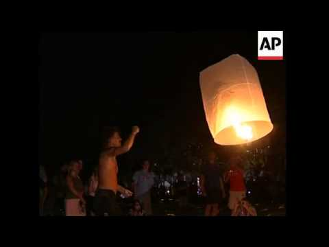 Candle lighting ceremony in Phuket