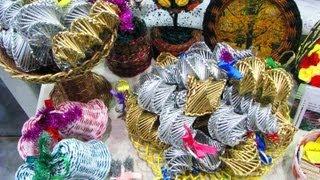 ═► Плетение из газет ёлочных игрушек. Часть 1.