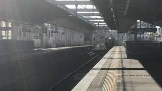 阪神1000系(HT02編成+HS62編成)快速急行近鉄奈良行き 西灘駅通過