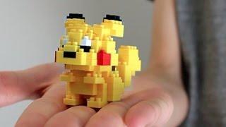 Building Lego Pokemon!! Pikachu Nanoblock