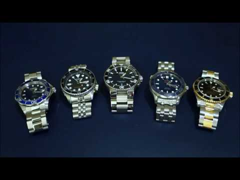 "Automatic Dive Watch Comparison Across 5 ""Tiers"" - From Invicta to Rolex - Perth WAtch #2"