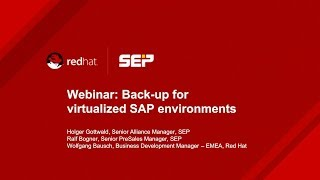 Backup for virtualized SAP environments on Red Hat RHV (Lang_EN)