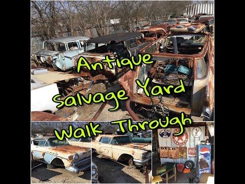 Antique Car Salvage Yard Walk-Through
