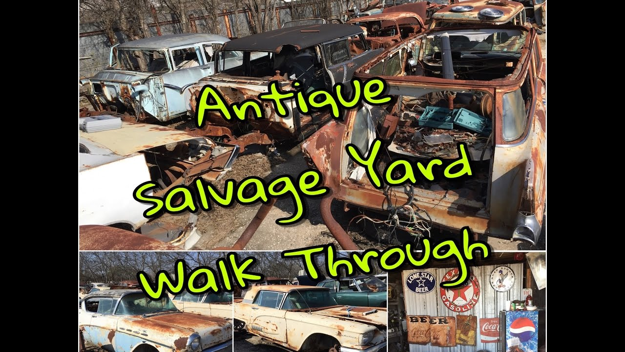 Antique Car Salvage Yard Walk-Through