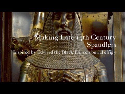 Making Late 14th Century Spaulders / Spaudlers