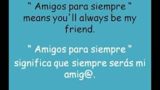 Sarah Brightman & José Carreras - Amigos para siempre - (lyrics inglés - español)