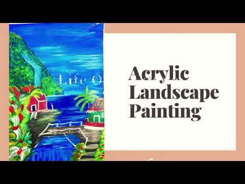 Acrylic Landscape Painting || Life On A Canvas