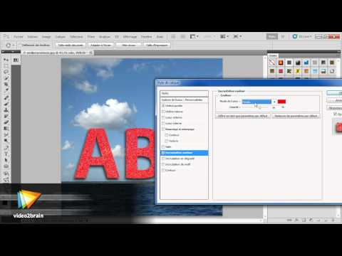 Photoshop CS5 : Texte transparent avec relief