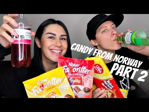 CANADIANS TRY NORWEGIAN CANDY (PART 2) AND SNACKS ALL THE WAY FROM NORWAY | PART 2