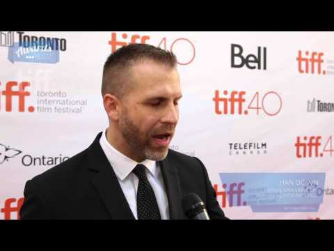 Adam Simon Man Down Red Carpet (TIFF 2015)