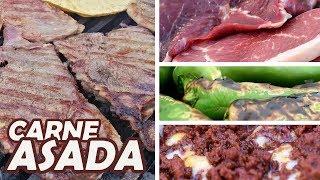 """Una CARNE ASADA """"de Verdad"""" + 3 marinados   TOQUE Y SAZÓN"""