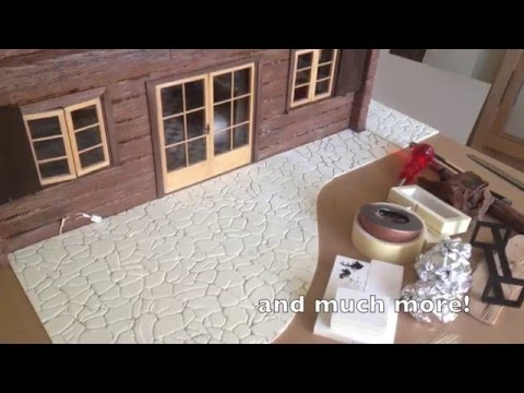 Making of Log Cabin 1:12 scale