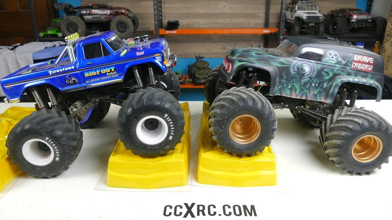 Vintage Rc Monster Truck Crush Cars From Team Blue Groove Youtube