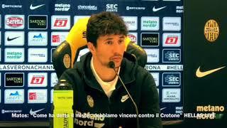 """Matos: """"Come ha detto Pecchia, domenica al Bentegodi dobbiamo vincere contro il Crotone"""""""