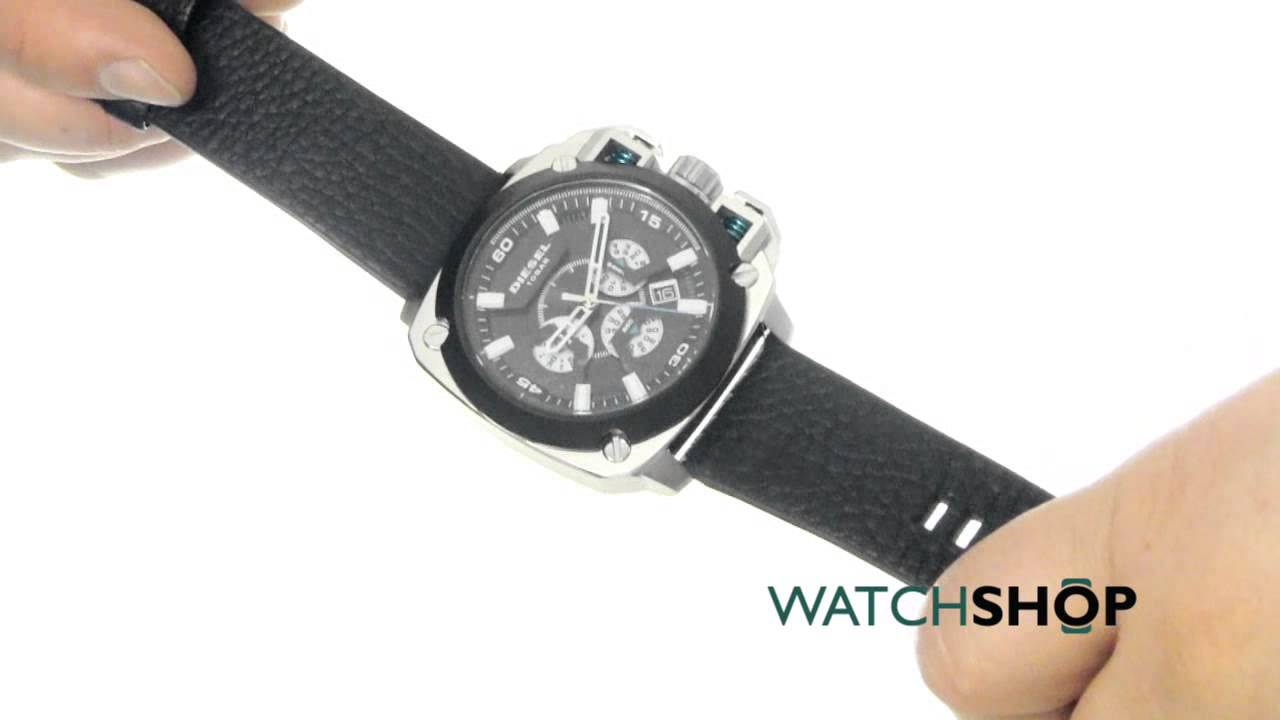 c49a030272f Diesel Men s BAMF Chronograph Watch (DZ7345) - YouTube