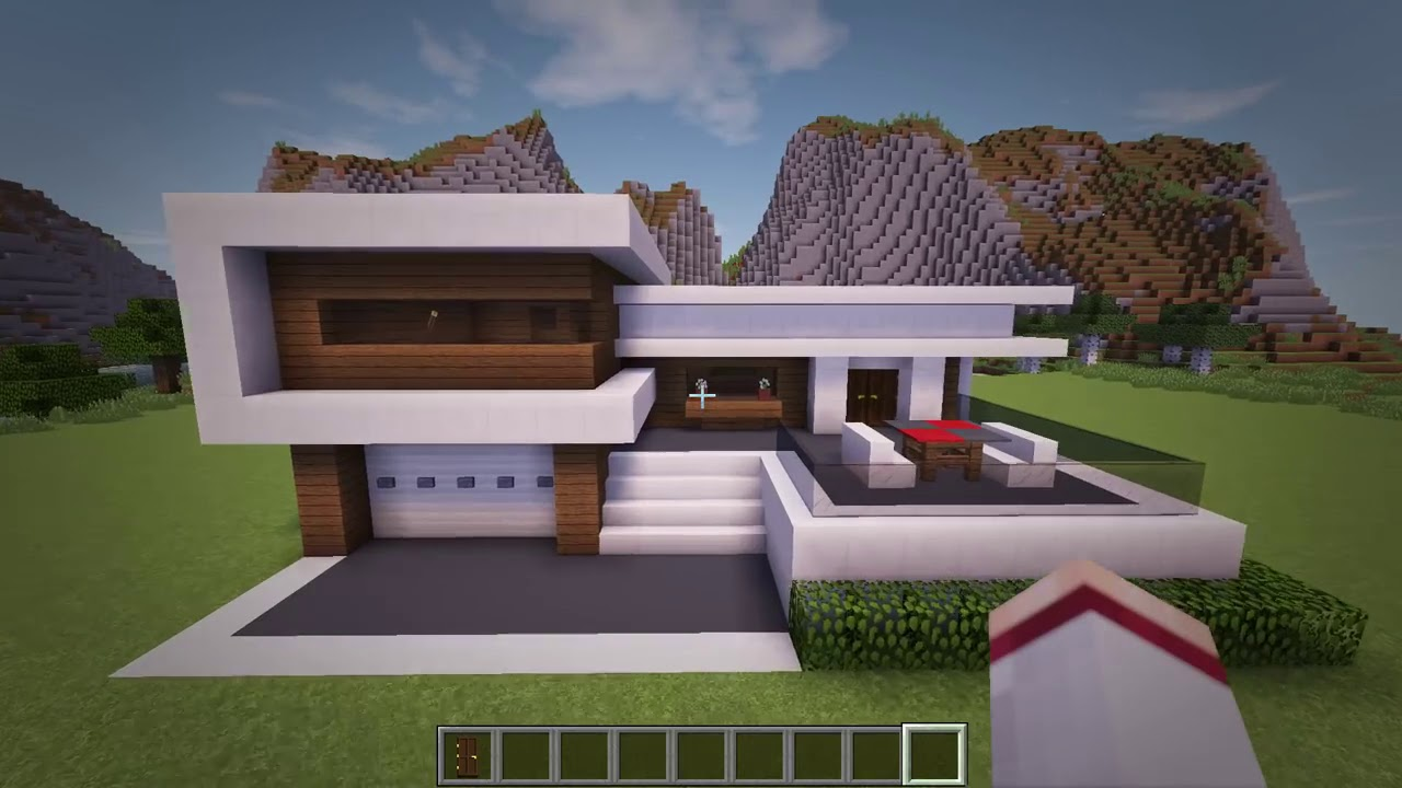 Inspiration 15 Of Minecraft Modern House Tutorial Step By Step