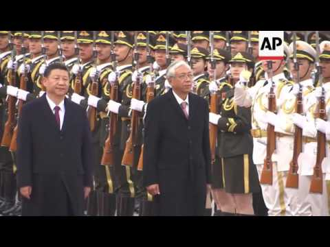 Chinese President meets Myanmar counterpart