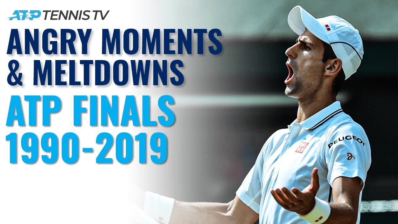 Angry Tennis Moments & Racket Smashes 😡 | ATP Finals Edition
