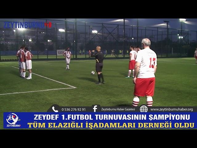 ZEYDEF Birinci Futbol Turnuvasının Şampiyonu Elazığ Derneği