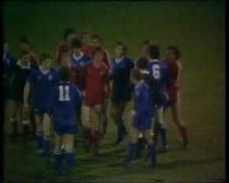 Rangers John McDonald sent off v Aberdeen 22/01/83