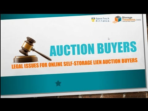 Legal Issues for Online Self Storage Lien Auction Buyers
