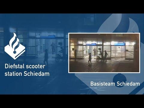 Politie #PRO247 Diefstal scooter station Schiedam
