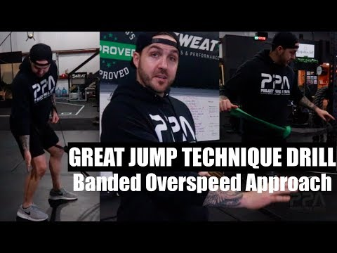Jump Higher with Banded Overspeed Approach Training
