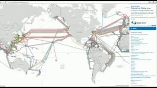 Оптический кабель и трафик.(Карта прокладки оптического кабеля по дну морей и океанов. http://www.submarinecablemap.com/, 2016-04-09T03:44:59.000Z)
