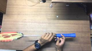 How to wrap a Yonex Badminton Racquet Grip