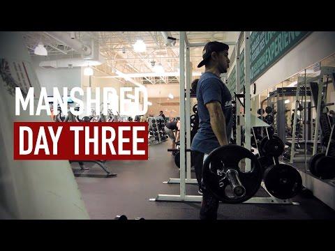 SHRED10 - ManShred Day 3 LEG DAY, Yucky Long Lost Shake, Trivia Night + Feeling Off