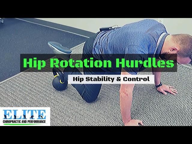 How to Improve Hip Stability and Control | HIP ROTATION HURDLES
