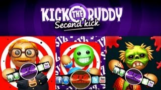 Repeat youtube video Kick The Buddy Second Kick-all gold items review