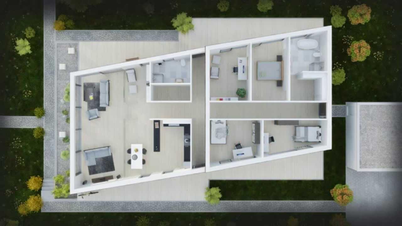 3d grundriss bungalow mit garage  Grundrisse Animation Architekturvisualisierung - YouTube