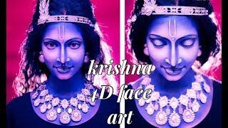 krishna 4D face art, anurag makeup mantra shades of dininity