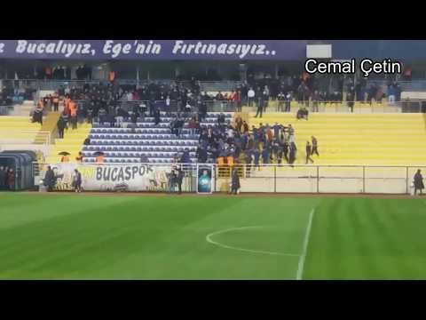 Bucaspor'umuz:3-1:Kastamonuspor maçında Kapalı Tribünde,Yağmur altında Kasap havası.